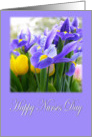 Happy Nurses Day Purple Iris Card