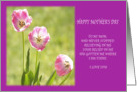 Happy Mother's Day Three Pink Tulips Card
