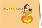 Halloween From the Dog in Pumpkin Card