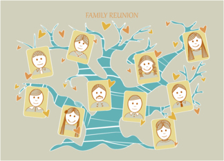 Family Reunion - Invitation - Family Tree Greeting Card