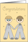 Wedding Day Grooms Congratulations card