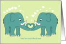 Wedding congratulations - Elephant you've tied the knot card
