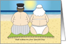 Wedding Congratulations - Beach Couple card