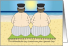 Wedding Congratulations - Beach Couple - Gay card