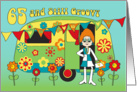 Birthday - 65 - Still Groovy Woman and Caravan card