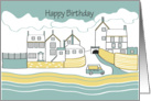 Happy Birthday - Old Village cottages card