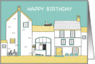 Happy Birthday - Old Village Fish and Chip Shop card