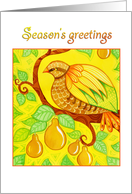 Season's greetings, partridge in a pear tree card