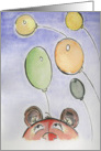 Birthday-Bear and Balloons card