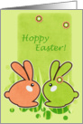 Easter Bunnies - Hoppy Easter Card