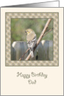 Finch on a Branch Birthday Card for Dad card