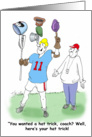 Lacrosse LAX Hat Trick Thank you Coach Humor card