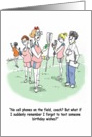 Lacrosse LAX Cell Phone Happy Birthday card