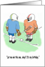 Lacrosse LAX Face Off Birthday card