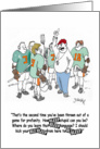 Lacrosse LAX Bleeping Coach Thanks card
