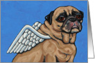 Pug Dog Wings Angel Pet Loss Sympathy card