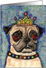 King Fawn Pug Dog Puppy Blank Card