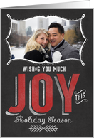 Wishing you Much Joy this Holiday Season Photo Card