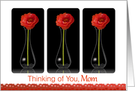 Thinking of You, Estranged Mom, Orange Flower in Vase card
