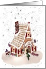 SugarPlum Fairy visiting a gingerbread home card