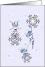 Winter Wonderland Fairies with fallen snowflakes card