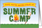 Summer Camp, Thinking of You with Campfire and Marshmallow card