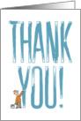 A Big Thank You Greeting card