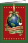 Merry Christmas Peace On Earth card