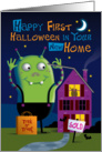 First Halloween in New Home card