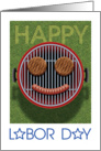 Happy Labor Day Smiley Grill card