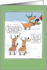 Rudy the Brown-nosed Reindeer Funny Christmas card