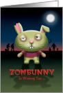 Zombie Bunny Rabbit Happy Halloween card