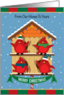 Cardinals Birdhouse From Our House to Yours Merry Christmas card