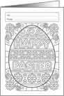 Happy Easter Egg Coloring Book Greeting Gard card