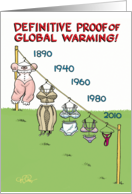 Global Warming Redux Funny Birthday Card