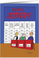 Senior Jeopardy Funny Birthday Card