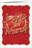 Love You More than Chocolate Valentine's Day Card