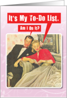 To Do List Adult Humor Vintage Valentines Day Card