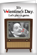 Just the Tip Adult Humor B&W TV Valentines Day Card