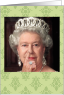 Queen Picks Her Nose Funny Card