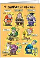 Old-Age Dwarfs Humor Card