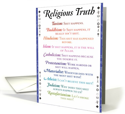 Religious Truth Humor Card