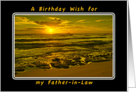 A Birthday Wish For My Father-in-Law, Tropical Beach Sunrise card