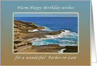 For my Father-in-Law, Happy Birthday wishes, Hanauma Bay, Hawaii card