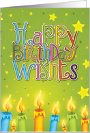 Happy Birthday Wishes with candles card