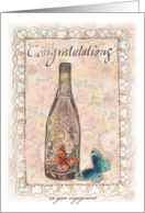 engagement congratulations same sex champagne roses card
