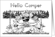 Vintage Girls Playing, Letter from Home to Girl Camper at Camp card