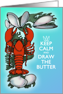 Summer Lobster and Clams Keep Calm Sea Blue and Red Blank card