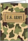Congratulations U.S. Army Camo Basic Training Graduation card