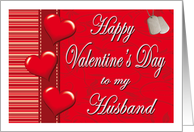 Valentine for Husband - Hearts & Dog Tags card